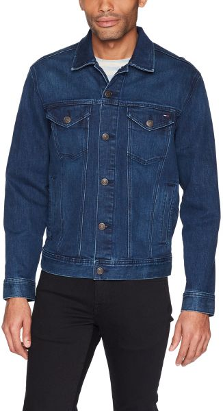 91cb259e Tommy Jeans Men's Jean Classic Denim Trucker Jacket, Oak Mid Blue ...