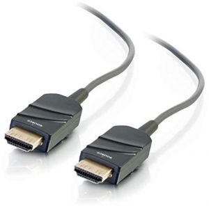 C2G 41370 High Speed HDMI Active Optical Cable (AOC) Plenum, CMP Rated, Grey (33 Feet, 10.05 Meters)