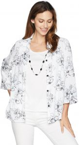 82af7d10c4de Alfred Dunner Women s Etched Floral Print Two for One Top