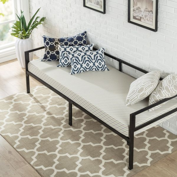 Zinus Quick Lock 30 Inch Wide Day Bed Frame and Foam Mattress Set ...