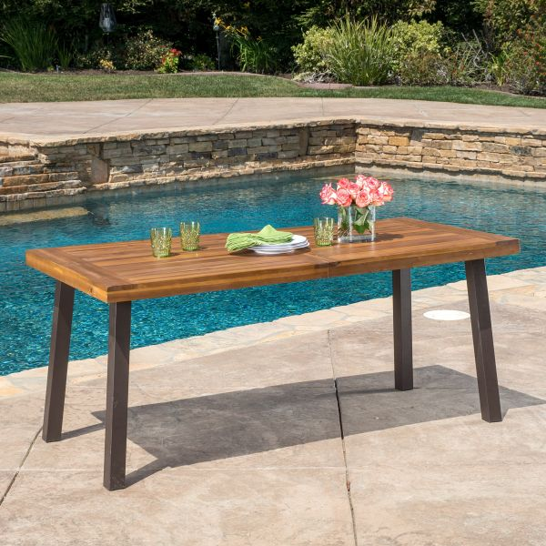 Christopher Knight Home Spanish Bay Acacia Wood Outdoor Dining