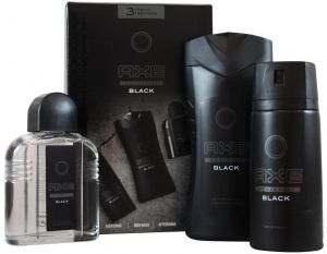 8e0195740569 AXE Collection Black 3 Pack Set Body Spray 150ml Plus Body Wash 250ml Plus  After Shave Gel 100ml