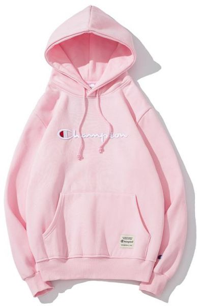 af86c3350db2 Champion Bright Pink Round Neck Hoodie   Sweatshirt For Unisex ...
