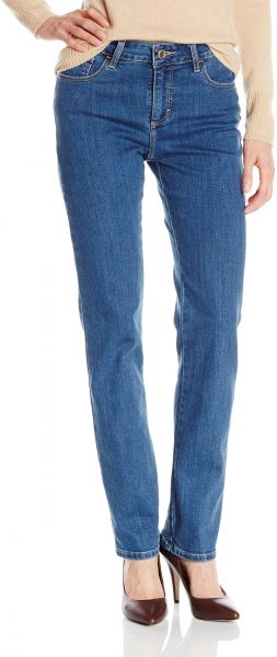 f1adae24 LEE Women's Instantly Slims Classic Relaxed Fit Monroe Straight Leg ...