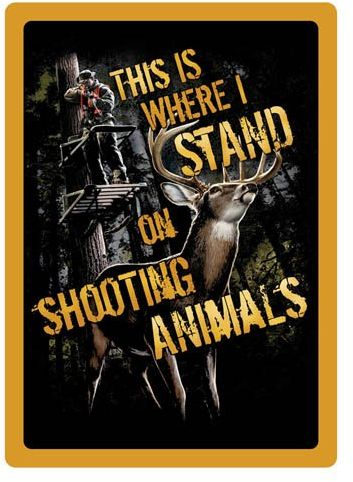 River S Edge Products Tin Sign 12 Inch By 17 Inch Shootin Animals