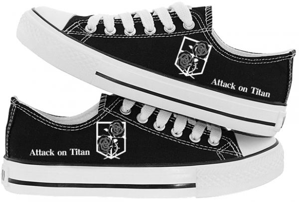 Attack on Titan canvas flat shoes soldier Allen male and female students  couple shoes casual shoes 43EU  816d6cee9