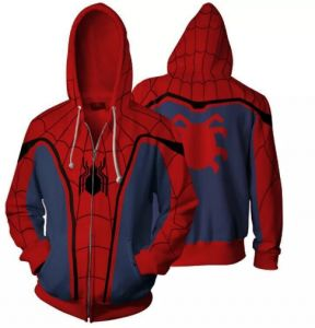 bbcbbb22f59d 3D Digita L Printing Returns Spider Man Hoodies Tops Zipper Sweatshirt  MWDM-1
