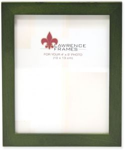Lawrence Frames Collection Wood Picture Frame Gallery 4 By 5 Inch Green
