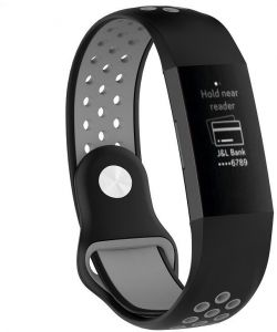 ae4ad9d40 Fitbit Charge 3 Band Soft Silicon Sports Band for Fitbit Charge 3 - Black  Gray
