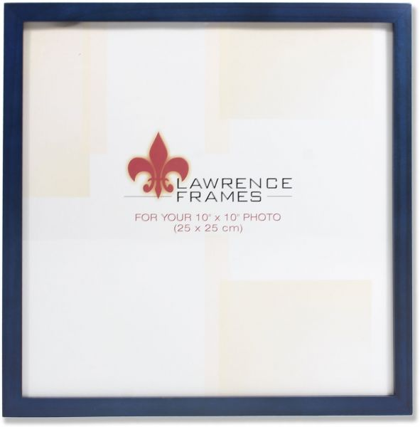 Lawrence Frames 755710 Blue Wood Picture Frame 10 By 10 Inch Souq