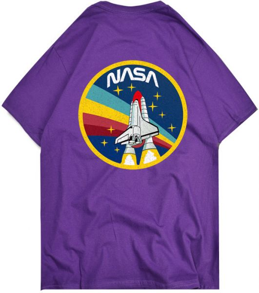 d0ed0800 Retro Vintage NASA Space Logo T-Shirt for men women teens,purple | KSA |  Souq