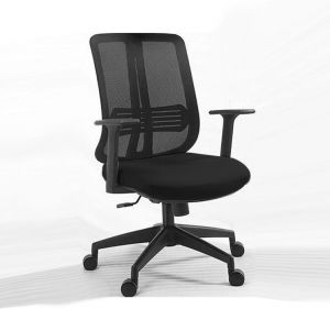 Galaxy Design Low Back Office Chair Mesh Comfortable Seat Compact Black Wheel Frame Gdf168b