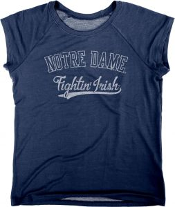 3a10876653b2 Blue 84 NCAA Notre Dame Fighting Irish Women s Chloe Premium Terry Raglan  Shirt