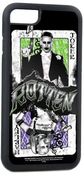 952cfdb41fcb Buckle-Down Cell Phone Case for iPhone 6 Plus - Joker Harley Quinn  Poses ROTTEN Card Split Weathered White Black Greens Purples - Suicide Squad