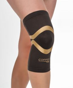 bb499cc6e4 Copper Fit CFPROKN Pro Series Compression Knee Sleeve, Black with Copper  Trim, XX-Large