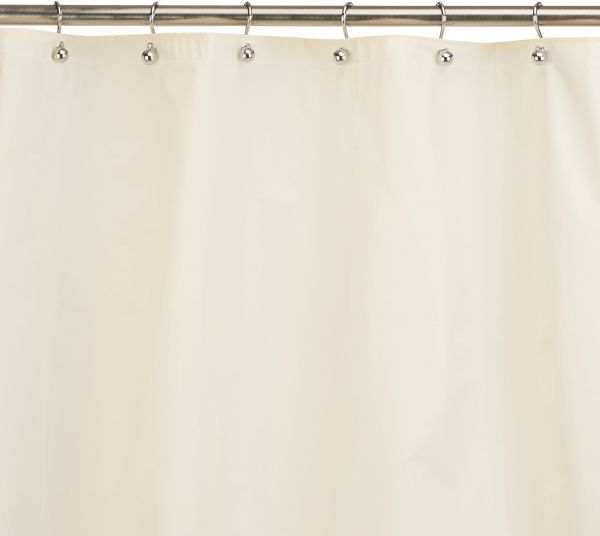 Carnation Home Fashions 10 Gauge PEVA 72 By 96 Inch Shower Curtain Liner X Long Ivory