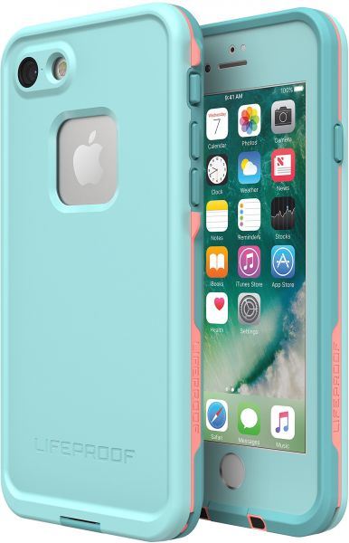 super popular 19741 b9745 Lifeproof FRĒ SERIES Waterproof Case for iPhone 8 & 7 (ONLY) - Retail  Packaging - WIPEOUT (BLUE TINT/FUSION CORAL/MANDALAY BAY)