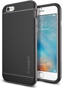 Spigen Neo Hybrid iPhone 6s Case with Flexible Inner Protection and Reinforced Hard Bumper Frame for Apple iPhone 6s (2016)/iPhone 6 (2015) - Gunmetal