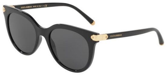 c149053df4df Dolce & Gabbana Cat Eye Sunglasses For Women - Grey, 6117, 52, 501, 87