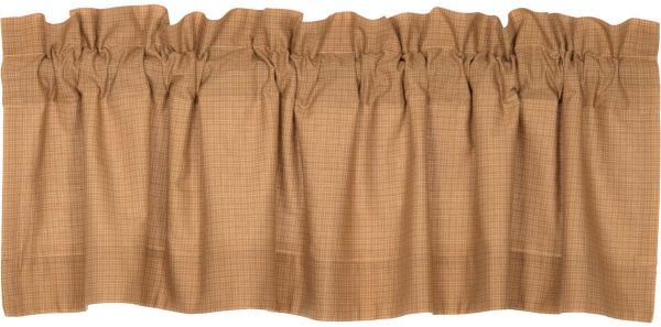 Vhc Brands Clic Country Primitive Kitchen Window Curtains Kindred Star Tan Lined Plaid Valance 16 X 60 Souq Uae