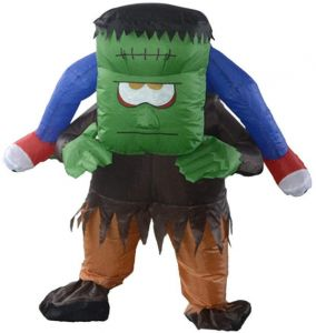 Frankenstein Inflatable Adult Costume Blowup Jumpsuit Christmas Fancy Dress