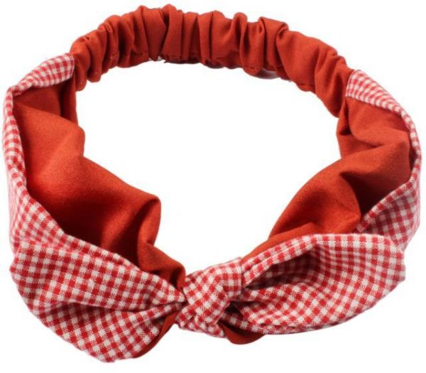 cda2da30755 Girl s Bow Hairband Ear Turban Knot Rabbit Headband Headwear Hair Band  Accessories Red