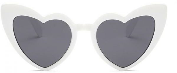 10339600497 Love Heart Shaped Sunglasses Women Vintage Cat Eye Mod Style Retro Glasses  White. by Other