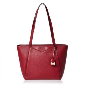 Michael Kors Tote Bag For Women - Maroon 7b2c3cdcbe445