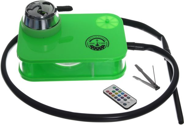 Yahya Nano Hookah Equipped With Remote Control Of LED Lights - Green