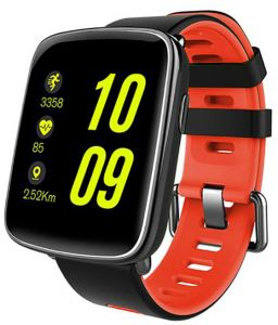 c5dedf5e7e3d6 Kingwear GV68 IP68 Waterproof Swim Call Heart Rate Monitor Smart Watch for  IOS and Android - Red