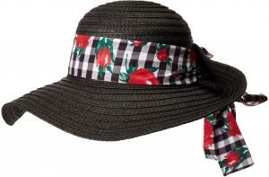 Betsey Johnson Women s Gingham Floppy Hat bb56793c4