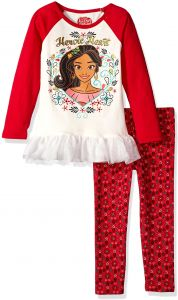 Disney Little Girls  2 Piece Elena of Avalor Legging Set with Tulle Ruffle 5214ac12b
