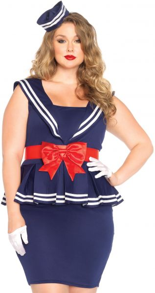 4515ad9301d Leg Avenue Women s Plus-Size 3 Piece Aye Aye Amy Sailor Costume ...