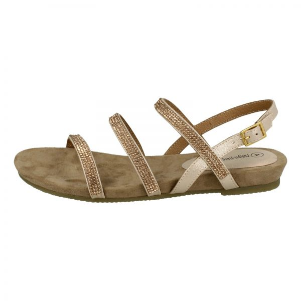 e3afd59e77c8 Kidderminster Leather lined Flat Sandals for Women - Rose Gold ...