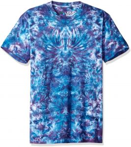 31156f01b6f Liquid Blue Men s Crazy Blue Krinkle Tie Dye Short Sleeve T-Shirt