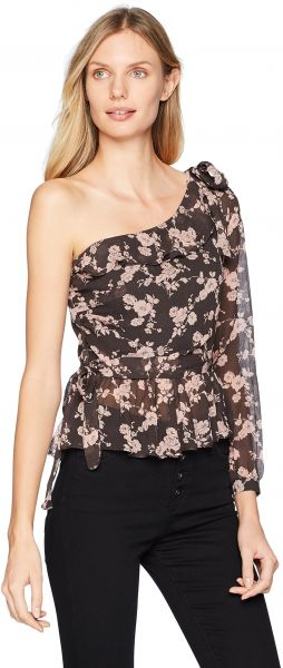 a4a00c160c665 For Love   Lemons Women s Theo One Shoulder Blouse