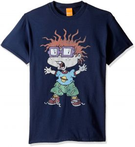 c046ca570 Nickelodeon Men's Big and Tall Rugrats Scared Chuckie T-Shirt, Navy, 3XL