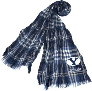 7497de11acb Littlearth NCAA BYU Cougars Sheer Infinity Plaid Scarf