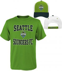 423be5e44cc MLS Youth Boys 8-20 Sounders Tee   Hat Set