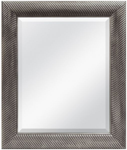 Mcs 16x20 Inch Wall Mirror 22x28 Inch Overall Size Antique Silver