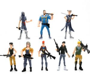 8pcs/set 4.5inch Fortnite Games Toys Anime Ornament Batter War Fortnite Action Figure Model Doll Toy Home Decoration Ideal Fans Kids Collection Gift