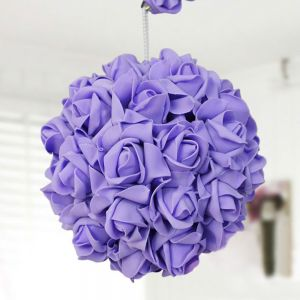 For Bride Decorate Adornment With Artificial Roses Ball Flower Pink