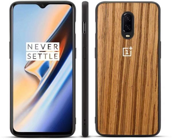 huge discount 73bb8 2f6b6 One Plus 6T Case, Wood Grain Full Protective Shockproof Scratch Resistant  Case for 1plus 6T