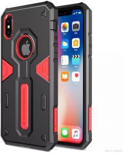 the latest bb434 5da69 Shockproof Armour case For Apple iPhone XS MAX iPhone Xs max NILLKIN  Defender 2 Shield Back cover Tough cases For Apple iPhone Xs max RED