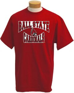 size 40 ccecc 6d39d NCAA Men s Ball State Cardinals Colossus Short Sleeved T-Shirt (Red, Large)
