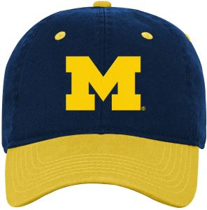 c6704d1a2af1c NCAA Michigan Wolverines Kids Two Tone Adjustable Slouch Hat