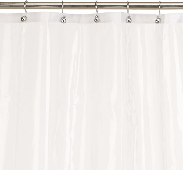 Carnation Home Fashions 10 Gauge PEVA 72 By 96 Inch Shower Curtain Liner X Long Super Clear