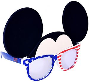 303d56545f79 Sunstaches Disney Mickey Mouse Red White and Blue Character Sunglasses