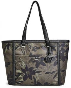 ad1c3a0cd7 Guess Women s Porter Printed Nylon Tote Bag - Olive