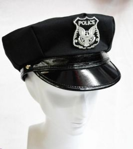 990b77edf968b Unisex freesize adjustable black NYPD Police office cop Halloween costume  hat for adults and kids